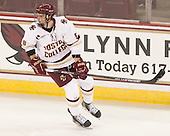 Travis Jeke (BC - 8) - The Boston College Eagles defeated the visiting University of New Brunswick Varsity Reds 6-4 in an exhibition game on Saturday, October 4, 2014, at Kelley Rink in Conte Forum in Chestnut Hill, Massachusetts.