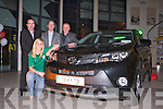 UNVEILING: Irish and Tralee rugby club star Siobhan Fleming unveiling the all new generation Toyota RAVA 4 at Kelliher garage, Tralee front l-r: Siobhan Fleming. Back l-r: Jerry O'Sullivan (sales executive), Tim Kelliher (CEO Kelliher garage) and Tom O'Connor (sales executive).