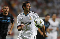 17.09.2012 SPAIN -  Champions League 12/13 Matchday 1th  match played between Real Madrid CF vs  Manchester City at Santiago Bernabeu stadium. The picture show Alvaro Arbeloa Coca (Spanish defender of Real Madrid)