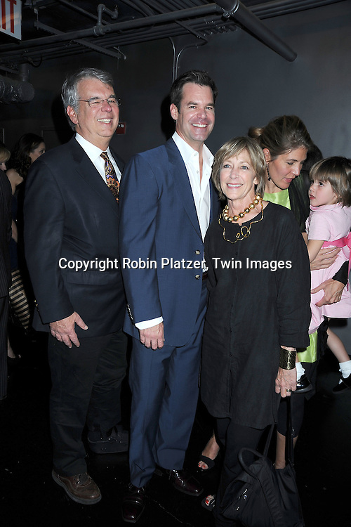 "Tuc Watkins and his father Curt Watkins,mother Mary, sister Courtney and niece Mary Charles at The opening night of ""White's Lies"" on May 6, 2010 at New World Stages in New York City. The show stars Betty Buckley, Tuc Watkins, Peter Scolari and Christy Carlson Romano."
