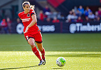 Portland, Oregon - Sunday September 4, 2016: Portland Thorns FC defender Katherine Reynolds (2) during a regular season National Women's Soccer League (NWSL) match at Providence Park.