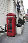 Red telephone box, Agar Street, outside Charring Cross police station, London