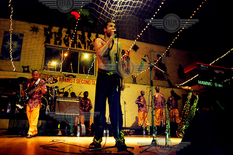 Femi Kuti in concert at The New Africa Shrine.