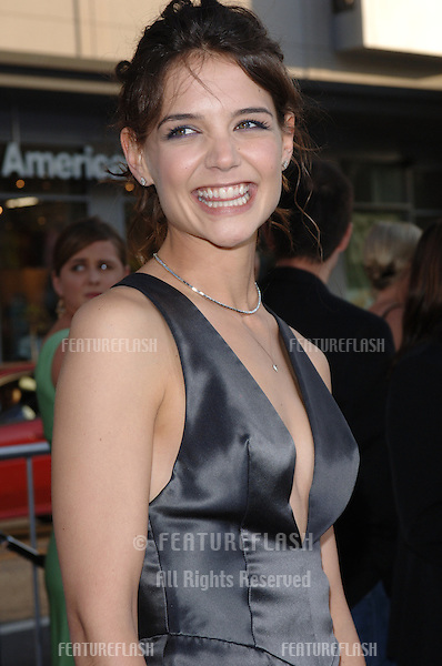Actress KATIE HOLMES at the Los Angeles premiere of her new movie Batman Begins..June 6, 2005 Los Angeles, CA..© 2005 Paul Smith / Featureflash