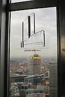 milano, il cantiere per la nuova sede della regione lombardia visto dal belvedere del grattacielo pirelli, attuale sede della regione --- milan, the new skyscraper headquarter of Lombardy Region authority seen from the 31st floor of the pirelli skyscraper, actual headquarter