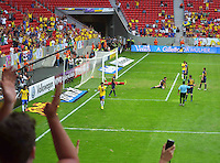 BRASILIA, DF, 07.09.2013 - 07.09.2013 - BRASIL X AUSTRÁLIA/AMISTOSO: Alexandre Pato durante partida amistosa entre Brasil x Austrália, no Estádio Nacional Mané Garrincha.(Foto: Ricardo Botelho / Brazil Photo Press).