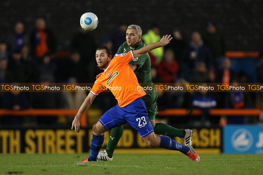Michael Cheek of Braintree Town and Steve McNulty of Tranmere Rovers during Braintree Town vs Tranmere Rovers, Vanarama National League Football at the IronmongeryDirect Stadium on 19th November 2016
