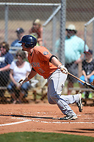 Houston Astros infielder Tyler White (11) during a minor league spring training game against the Detroit Tigers on March 21, 2014 at Osceola County Complex in Kissimmee, Florida.  (Mike Janes/Four Seam Images)