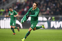 Federico Chiesa of Fiorentina celebrates after scoring a goal  during the Serie A 2018/2019 football match between AC Milan and ACF Fiorentina at stadio Giuseppe Meazza in San Siro, Milano, December 22, 2018 <br />  Foto Matteo Gribaudi / Insidefoto