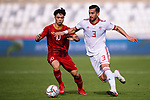 Ehsan Haji Safi of Iran (R) battles for the ball with Nguyen Cong Phuong of Vietnam (L) during the AFC Asian Cup UAE 2019 Group D match between Vietnam (VIE) and I.R. Iran (IRN) at Al Nahyan Stadium on 12 January 2019 in Abu Dhabi, United Arab Emirates. Photo by Marcio Rodrigo Machado / Power Sport Images