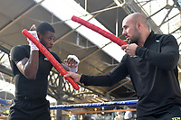 Isaac Chamberlain during a Public Workout at Old Spitalfields Market on 24th October 2018