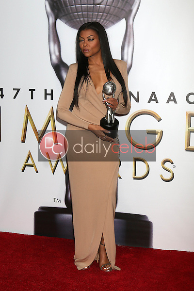 Taraji P. Henson<br /> at the 47TH NAACP Image Awards Press Room, Pasadena Civic Auditorium, Pasadena, CA 02-05-16<br /> David Edwards/DailyCeleb.com 818-249-4998