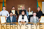 Recipients of the  Tralee Municipal Awards last Friday. <br /> Front left to right, Dr Rizwan Khan, Mayor of Tralee Cllr Norma Foley and boxer Patrick McCarthy. <br /> Back left to right Conor Horgan, Joshua Saunders and Fr Ger Godley of the KDYS and Dawn Roberts and Collette Price (Tralee Soup Kitchen).