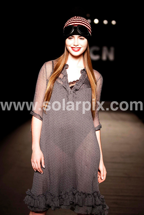 **ALL ROUND PICTURES FROM SOLARPIX.COM**.**WORLDWIDE SYNDICATION RIGHTS** AND NO PUBLICATION IN SPAIN**.Lily Collins, daughter of Phil Collins, models in Barcelona Fashion Week..This pic: Lily Collins..JOB REF:    4312 MER       DATE: 16_01_2007.**MUST CREDIT SOLARPIX.COM OR DOUBLE FEE WILL BE CHARGED* *UNDER NO CIRCUMSTANCES IS THIS IMAGE TO BE REPRODUCED FOR ANY ONLINE EDITION WITHOUT PRIOR PERMISSION*
