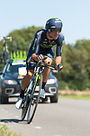 SITTARD, NETHERLANDS - AUGUST 16: Enrique Sanz of Spain riding for Movistar competes during stage 5 of the Eneco Tour 2013, a 13km individual time trial from Sittard to Geleen, on August 16, 2013 in Sittard, Netherlands. (Photo by Dirk Markgraf/www.265-images.com)
