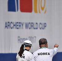 Ki Bo Bae Korea Recurve Women <br /> Roma 03-09-2017 Stadio dei Marmi <br /> Roma 2017 Hyundai Archery World Cup Final <br /> Finale Coppa del mondo tiro con l'arco <br /> Foto Andrea Staccioli Insidefoto/Fitarco