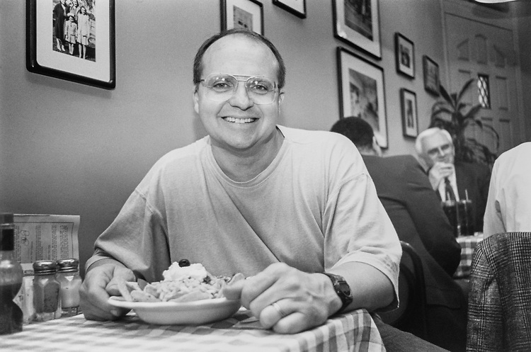 Chef John Aquilino with Taco Salad at the Cool Breezes restaurant, on Sep. 3, 1991. (Photo by Laura Patterson/CQ Roll Call via Getty Images)