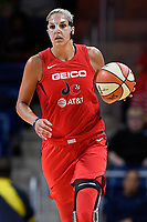 Washington, DC - August 25, 2019: Washington Mystics forward Elena Delle Donne (11) walks the ball up court during second half action of game between the New York Liberty and the Washington Mystics at the Entertainment and Sports Arena in Washington, DC. The Mystics defeated New York 101-72. (Photo by Phil Peters/Media Images International)