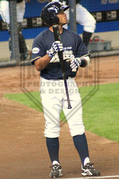 MILWAUKEE - APRIL 2011: Eric Farris (2) of the Milwaukee Brewers during the team's Rising Stars game on Saturday April 3, 2011 at Miller Park in Milwaukee, Wisconsin. (Photo by Brad Krause) ..