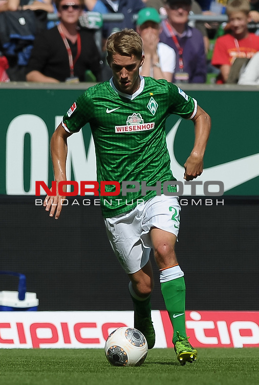 17.08.2013, Weserstadion, Bremen, GER, 1.FBL, Werder Bremen vs FC Augsburg, im Bild Nils Petersen (Bremen #24)<br /> <br /> Foto &copy; nph / Frisch