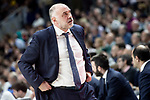 Coach Pablo Laso of Real Madrid during Liga Endesa match between Real Madrid and Kirolbet Baskonia at Wizink Center in Madrid Spain. February 10, 2019. (ALTERPHOTOS/Borja B.Hojas)