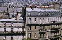 Balconies of apartment buildings on Île Saint-Louis, Paris, France.