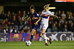 UEFA Women's Champions League 2017/2018.<br /> Quarter Finals.<br /> FC Barcelona vs Olympique Lyonnais: 0-1.<br /> Melanie Serrano vs Eugenie Le Sommer.