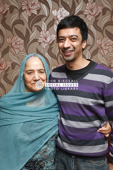 Portrait of South Asian son with his mother.