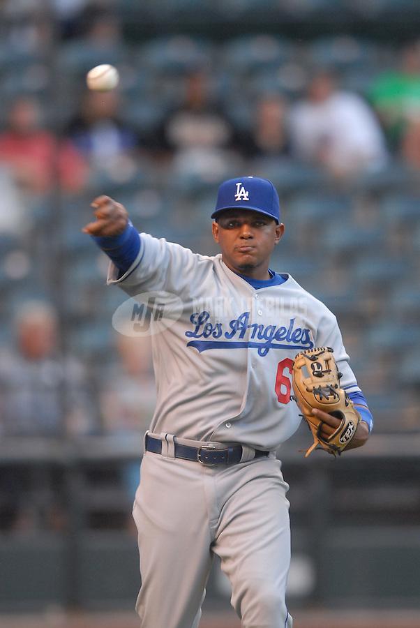 Jun 25, 2007; Phoenix, AZ, USA; Los Angeles Dodgers third baseman (6) Tony Abreu against the Arizona Diamondbacks at Chase Field. Mandatory Credit: Mark J. Rebilas