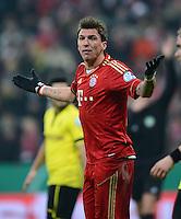 FUSSBALL  DFB-POKAL  VIERTELFINALE  SAISON 2012/2013    FC Bayern Muenchen - Borussia Dortmund          27.02.2013 Mario Mandzukic (FC Bayern Muenchen)
