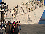 *** EXCLUSIVE Coverage ***.Woody Allen and Soon-Yi Previn walking around the.Monument to the Discoveries on the Tagus River in Lisbon, Portugal..December 31, 2004.© Walter McBride /