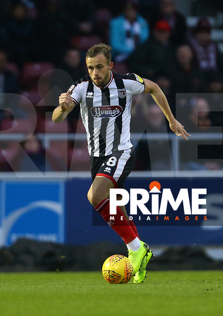 Charles Vernam of Grimsby Town during the Sky Bet League 2 match between Northampton Town and Grimsby Town at Sixfields Stadium, Northampton, England on 24 November 2018. Photo by Leila Coker / PRiME Media Images.