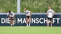 Ilkay Gündogan (Deutschland, Germany), Leroy Sane (Deutschland Germany), Joshua Kimmich (Deutschland Germany) haben Spaß - 04.06.2019: Training der Deutschen Nationalmannschaft zur EM-Qualifikation in Venlo/NL