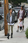 .June 12th 2010..Jessica Alba walking with Cash Warren & the baby daughter Honor as the left the Tavern restaurant after eating breakfast in Brentwood California..AbilityFilms@yahoo.com.805-427-3519.www.AbilityFilms.com