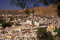 """AJ1910, Mexico, Guanajuato, capital city, Aerial view of Guanajuato """"""""Place of Frogs"""""""" in the state of Guanajuato."""