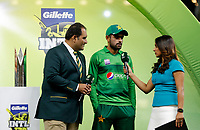 8th November 2019; Optus Stadium, Perth, Western Australia Australia; T20 Cricket, Australia versus Pakistan; Babar Azam of Pakistan is interviewed after the game - Editorial Use