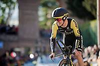 Esteban Chavez (COL/Mitchelton-Scott) on the steepest part up the San Luca climb<br /> <br /> <br /> Stage 1 (ITT): Bologna to Bologna/San Luca (8.2km)<br /> 102nd Giro d'Italia 2019<br /> <br /> ©kramon