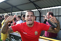 Leon Mckenzie celebrates promotion during Witham Town vs AFC Hornchurch, Bostik League Division 1 North Football at Spa Road on 14th April 2018