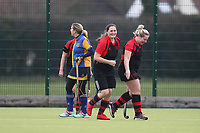 Havering celebrate a goal Upminster HC Ladies 3rd XI vs Havering HC 2nd XI, Essex Women's League Field Hockey at the Coopers Company and Coborn School on 10th March 2018