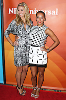 PASADENA, CA, USA - APRIL 08: Model Heidi Klum and Recording Artist Mel B (Melanie Brown) arrive at the NBCUniversal Summer Press Day 2014 held at The Langham Huntington Hotel and Spa on April 8, 2014 in Pasadena, California, United States. (Photo by Xavier Collin/Celebrity Monitor)