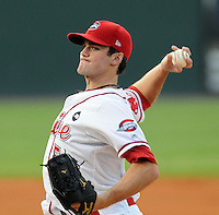 August 13, 2009: RHP Caleb Clay of the Greenville Drive, Class A affiliate of the Boston Red Sox, in a game at Fluor Field at the West End in Greenville, S.C. Photo by: Tom Priddy/Four Seam Images