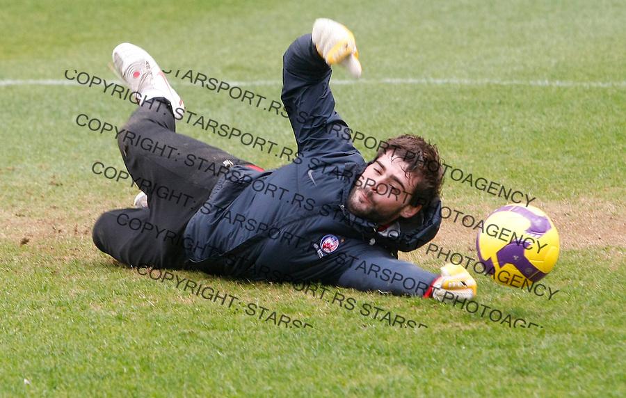 Fudbal.pripreme za prolecnu sezonu.FK Crvena Zvezda.Goalkeeper Bojan Pavlovic.Antalya, 02.02.2010..foto: Srdjan Stevanovic