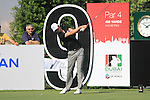 Chris Wood tees off on the 9th tee during Day 1 of the Dubai World Championship, Earth Course, Jumeirah Golf Estates, Dubai, 25th November 2010..(Picture Eoin Clarke/www.golffile.ie)