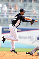 New York Yankees Derek Jeter #2 during a Spring Training game vs the Houston Astros at George M. Steinbrenner Field in Tampa, Florida;  March 2, 2011.  New York defeated Houston 6-5.  Photo By Mike Janes/Four Seam Images