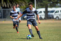 Action from the New Zealand Age Group Championships Under-16 Boys match between Central (green tops) and Northern at Memorial Park in Petone, Wellington, New Zealand on Sunday, 17 December 2017. Photo: Dave Lintott / lintottphoto.co.nz