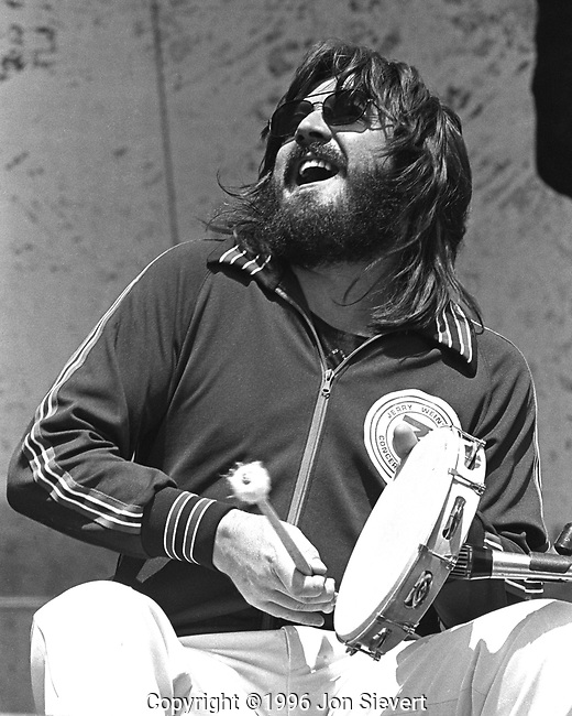 John Bonham, July 23, 1977, Oakland Coliseum. English drummer and songwriter, best known as the drummer of Led Zeppelin.<br /> <br /> Bonham was esteemed for his speed, power, fast right foot, distinctive sound, and &quot;feel&quot; for the groove. He is considered to be one of the greatest drummers in the history of rock music by other musicians and commentators in the industry.