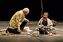 """Edinburgh, UK. 21.08.2018. Théâtre des Bouffes du Nord present """"The Prisoner"""", at The Royal Lyceum Theatre, as part of the Edinburgh International Festival. The Prisoner is co-written and co-directed by Brook and long-time collaborator Marie-Hélène Estienne, with lighting design by Philippe Vialatte and set elements by David Violi. The Prisoner is part of the residency of the Théâtre des Bouffes du Nord at the 2018 International Festival. The cast is: Hiran Abeysekera, Ery Nzaramba, Omar Silva, Kalieaswari Srinivasan, Donald Sumpter. Picture shows: Donald Sumpter,  Hiran Abeysekera. Photograph © Jane Hobson."""