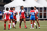 Japan team group (JPN), <br /> AUGUST 30, 2018 - Rugby : <br /> Women's Group A match <br /> between Japan 65-0 Idonesia <br /> at Gelora Bung Karno Rugby Field <br /> during the 2018 Jakarta Palembang Asian Games <br /> in Jakartan, Idonesia. <br /> (Photo by Naoki Morita/AFLO SPORT)