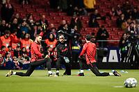 8th February 2020; Wanda Metropolitano Stadium, Madrid, Spain; La Liga Football, Atletico de Madrid versus Granada; Jan Oblak (Atletico de Madrid)  Pre-match warm-up