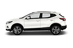 Car driver side profile view of a 2017 Nissan Qashqai N Connect 5 Door SUV